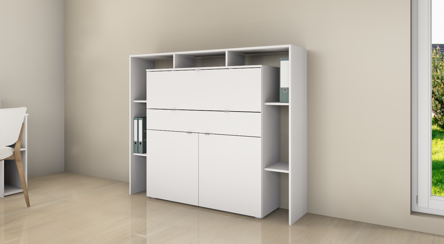 garderobenset rena schuhschrank garderobe paneel spiegel flur wandgarderobe ebay. Black Bedroom Furniture Sets. Home Design Ideas